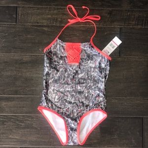Limited Too Foil Lame Cheetah Print swimsuit